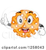Clipart Of A Happy Cross Cut French Fry Character Holding A Thumb Up Royalty Free Vector Illustration by BNP Design Studio
