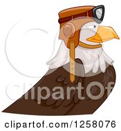 Clipart Of A Bald Eagle Pilot In Profile Royalty Free Vector Illustration