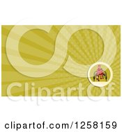 Clipart Of A Retro Horse Cart Racing And Rays Business Card Design Royalty Free Illustration by patrimonio