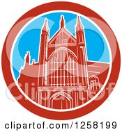 Clipart Of The Winchester Cathedral Church Of England Cathedral In Winchester Hampshire England Royalty Free Vector Illustration
