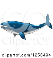 Clipart Of A Blue Whale Royalty Free Vector Illustration
