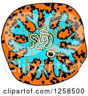 Colorful Doodled Virus Or Amoeba