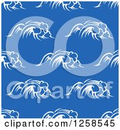 Clipart Of A Seamless Background Pattern Of Waves Royalty Free Vector Illustration