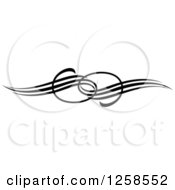 Clipart Of A Black And White Swirl Rule Divider Border Design Element Royalty Free Vector Illustration by Seamartini Graphics