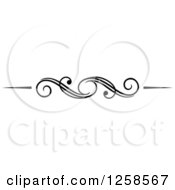 Clipart Of A Black And White Swirl Rule Divider Border Design Element Royalty Free Vector Illustration by Vector Tradition SM