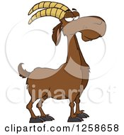 Clipart Of A Red Male Boer Goat Wether Royalty Free Vector Illustration by Hit Toon