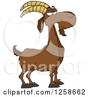 Clipart Of A Red Male Boer Goat Buck With A Goatee Royalty Free Vector Illustration