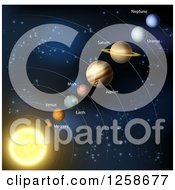 Clipart Of The Solar System Royalty Free Vector Illustration by AtStockIllustration