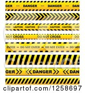 Clipart Of Yellow Caution Tapes Royalty Free Vector Illustration