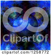 Clipart Of A 3d Blue Fractal Planet Royalty Free Illustration
