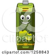 Clipart Of A Green Apple Juice Carton Characters Royalty Free Vector Illustration