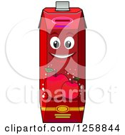 Clipart Of A Red Apple Juice Carton Characters Royalty Free Vector Illustration