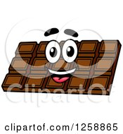 Clipart Of A Happy Chocolate Bar Royalty Free Vector Illustration by Vector Tradition SM