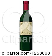 Clipart Of A Wine Bottle Royalty Free Vector Illustration by Vector Tradition SM