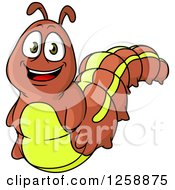Clipart Of A Caterpillar Royalty Free Vector Illustration by Vector Tradition SM