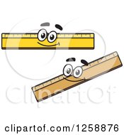 Clipart Of Happy Rulers Royalty Free Vector Illustration