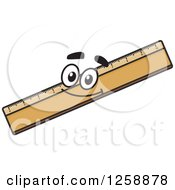 Clipart Of A Happy Ruler Royalty Free Vector Illustration