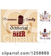 Clipart Of Oktoberfest Beer Royalty Free Vector Illustration