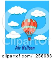 Clipart Of A Hot Air Balloon Over Text And Sky Royalty Free Vector Illustration