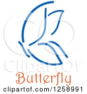 Blue Butterfly With Text