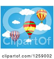Clipart Of Hot Air Balloons In The Sky Royalty Free Vector Illustration
