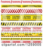 Clipart Of Red And Yellow Caution Tapes Royalty Free Vector Illustration