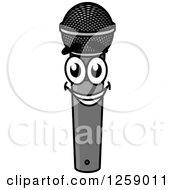 Clipart Of A Happy Microphone Character Royalty Free Vector Illustration