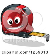 Clipart Of A Happy Measuring Tape Royalty Free Vector Illustration