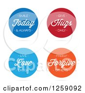 Clipart Of Colorful Round Positive Messages Royalty Free Vector Illustration by Arena Creative