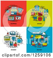 Shopping Goods Payment Delivery Icons