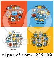 Clipart Of Business E Commerce Startup Finance Icons Royalty Free Vector Illustration by elena