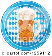 Clipart Of An Oktoberfest Beer Mug Over Diamonds In A Circle Royalty Free Vector Illustration