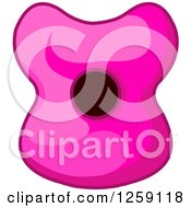 Clipart Of A Womans Pink Surprised Lips Royalty Free Vector Illustration