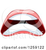 Clipart Of A Womans Scared Mouth Royalty Free Vector Illustration