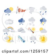 Clipart Of Weather Icons Royalty Free Vector Illustration by AtStockIllustration