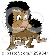 Clipart Of A Curious Hedgehog Royalty Free Vector Illustration by dero