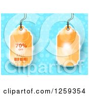 Retail Commerce Background Of Orange 70 Percent Off Fall Sale Tag Over Flares