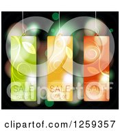 Retail Commerce Background Of Floral Fifty Percent Off Sales Tags Over Flares