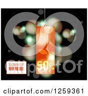 Retail Commerce Background Of A Floral Summer Sale Tag Over Flares