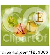 Retail Commerce Background Of SALE Tags Over Green