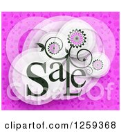 Retail Commerce Background Of Floral Sale Text Over Pink