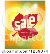 Retail Commerce Background Of Sale Special Offers Leaf On Flares