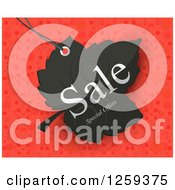 Retail Commerce Background Of A Black Sale Special Offers Leaf On Red