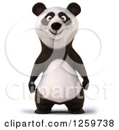 Clipart Of A 3d Panda Royalty Free Illustration