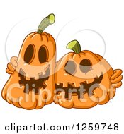 Clipart Of Happy Halloween Jackolantern Friends Royalty Free Vector Illustration by yayayoyo