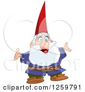 Clipart Of A Happy Senior Male Gnome Royalty Free Vector Illustration by yayayoyo
