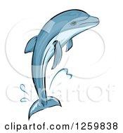 Jumping Dolphin Mascot