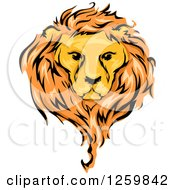Clipart Of A Male Lion And Mane Mascot Royalty Free Vector Illustration by BNP Design Studio