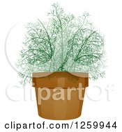 Clipart Of A Potted Dill Plant Royalty Free Vector Illustration by BNP Design Studio