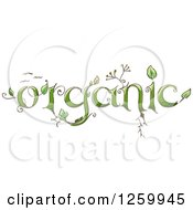 Clipart Of Organic Text With Plants Royalty Free Vector Illustration